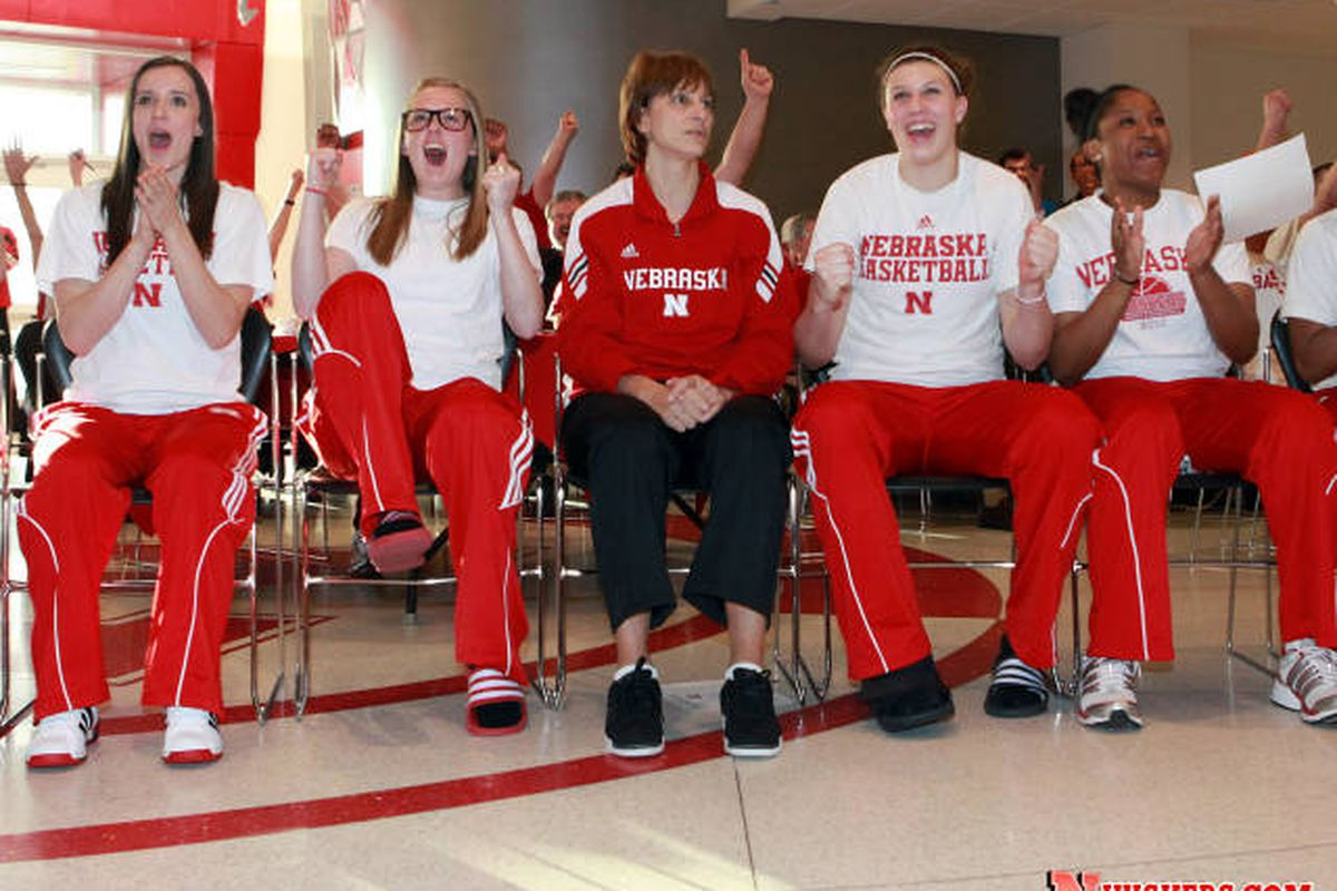 """Image courtesy of <a href=""""http://image.cdnllnwnl.xosnetwork.com/pics32/640/BU/BUSCBPYNSRZUITH.20120313000337.JPG"""">huskers.com</a>. The Nebraska women's basketball team is excited for their match-up with Kansas in round 1 of the NCAA tournament."""