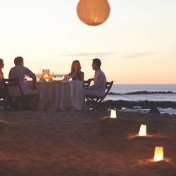 """Dinner at <a href=""""http://www.fourseasons.com/costarica/"""">The Four Seasons Costa Rica</a>, where Brooke Mueller and Charlie Sheen honeymooned."""