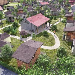 A rendering of The Other Side Village, a tiny home community Salt Lake City Mayor Erin Mendenhall has proposed to be built in partnership with The Other Side Academy somewhere in Salt Lake City.