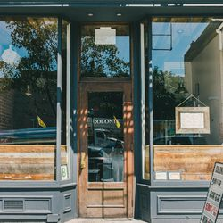 """<b>↑</b><b><a href="""" http://colonienyc.com/"""">Colonie</a></b> (127 Atlantic Avenue) reflects the neighborhood with its modern yet rustic décor—an invitingly warm contrast of exposed brick and sleek wood. The menu is equally hip, and, more importantly, deli"""