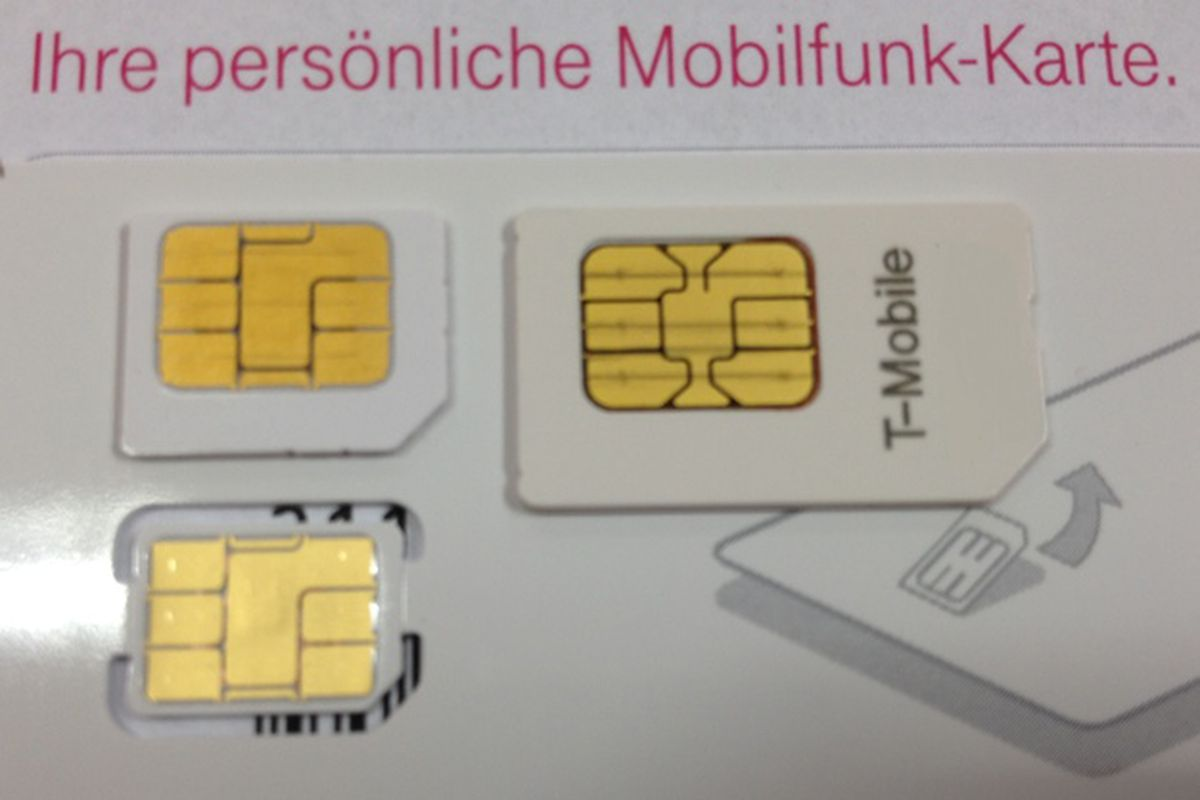 Images Of T Mobile Germany S Supposed Nano Sim Cards For Next Iphone