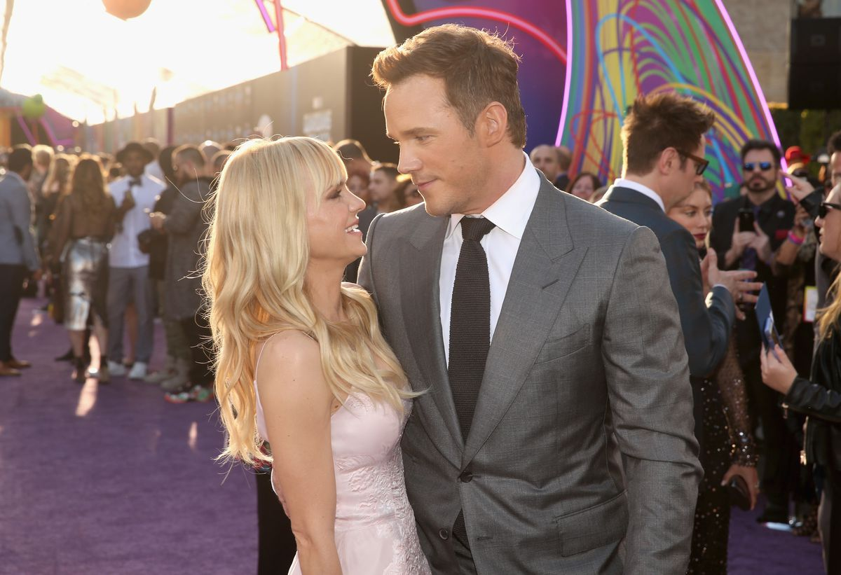 Anna Faris and Chris Pratt at the 'Guardians of the Galaxy Vol. 2' premiere