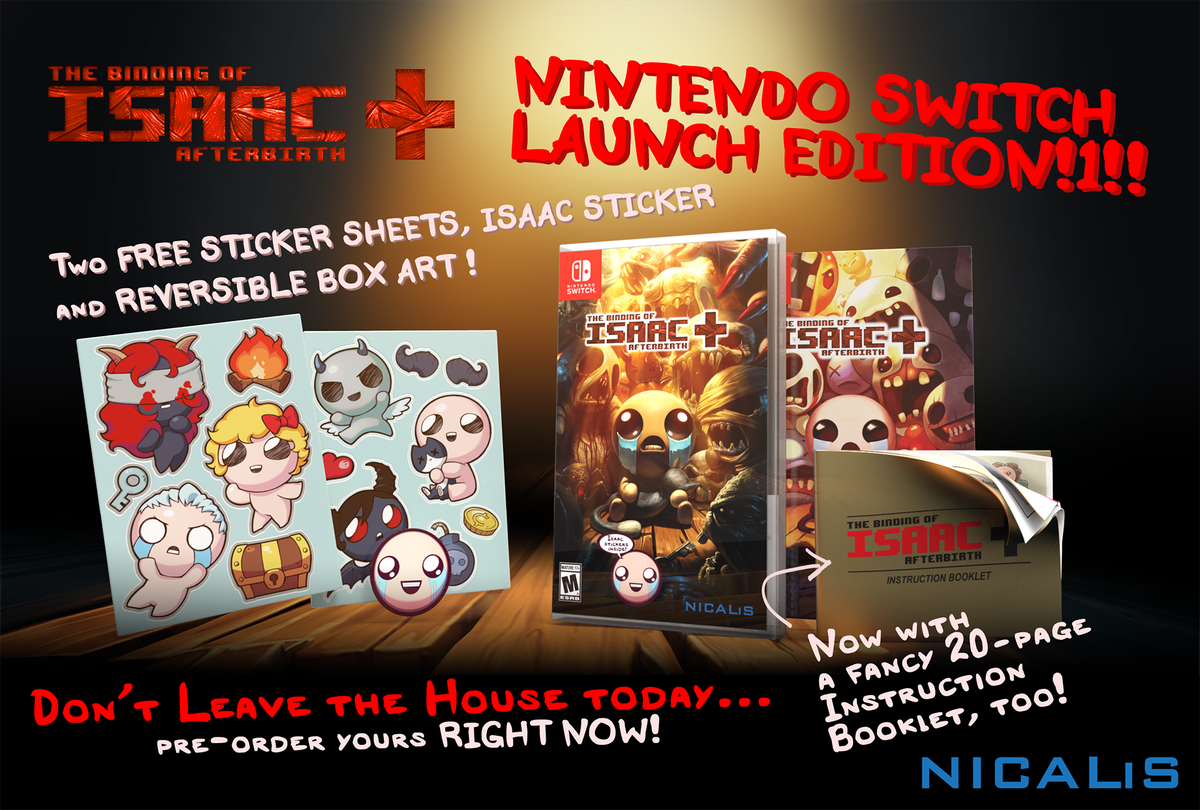 The Binding of Isaac: Afterbirth+ Nintendo Switch Launch Edition