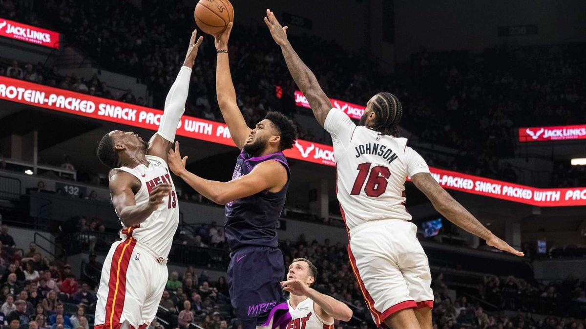 NBA: Miami Heat at Minnesota Timberwolves