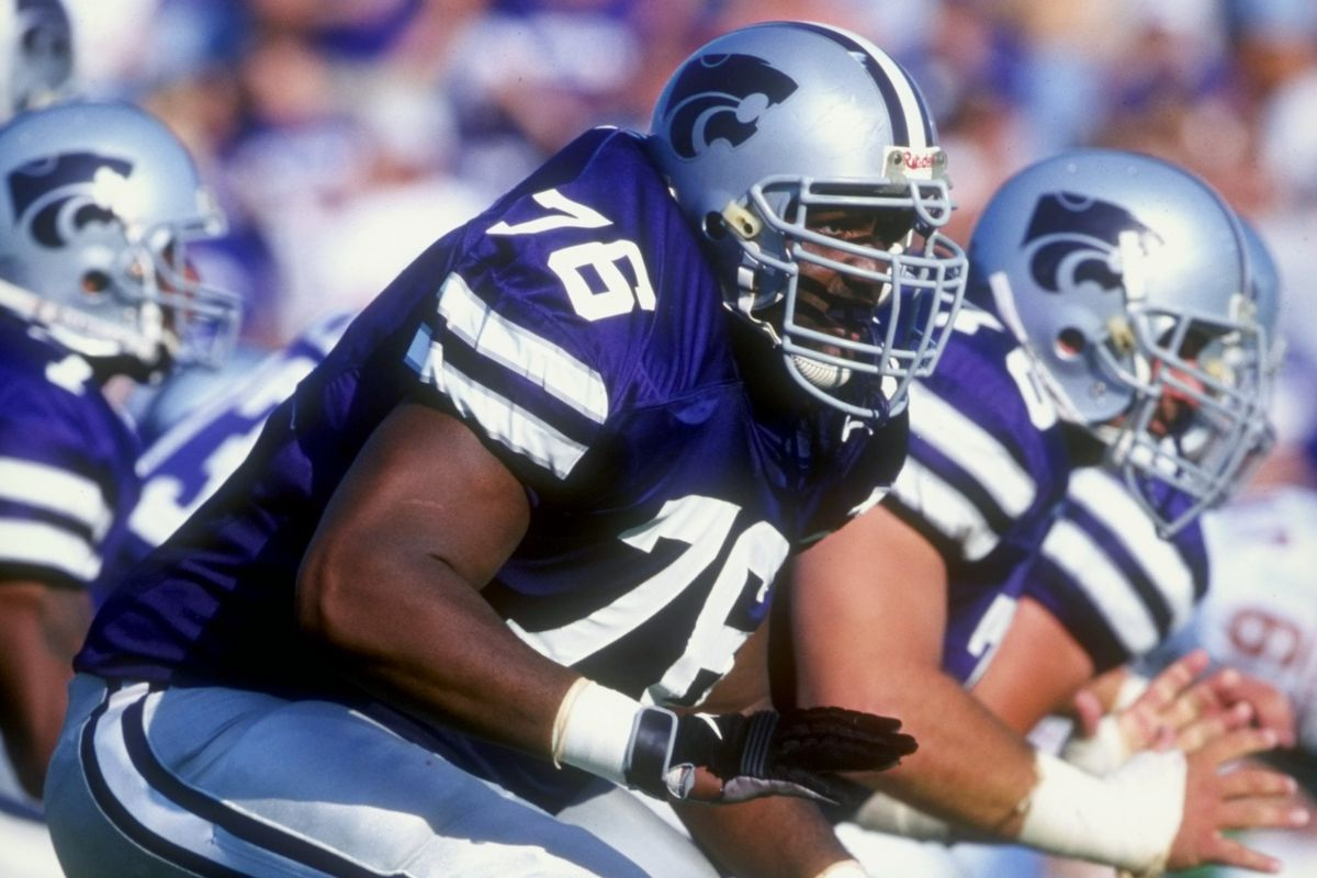 For some reason, Ajahne Brager reminds me physically of K-State great Ryan Young. I don't think he's quite that talented, though — Young played multiple seasons in the NFL.