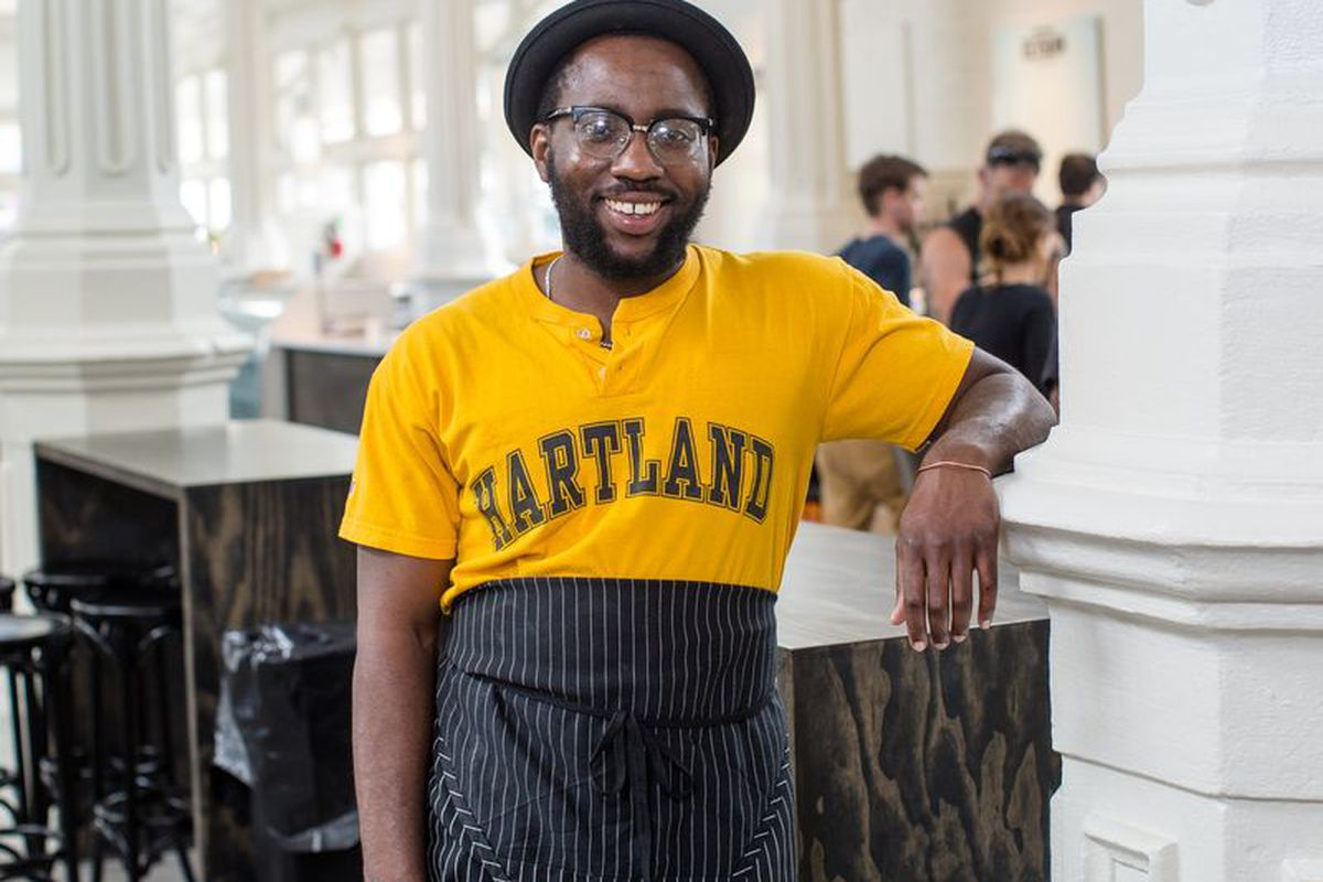 Tunde Wey at St. Roch Market in New Orleans.