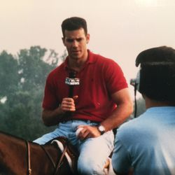 Larry Potash reporting for WGN in 1995.   Provided