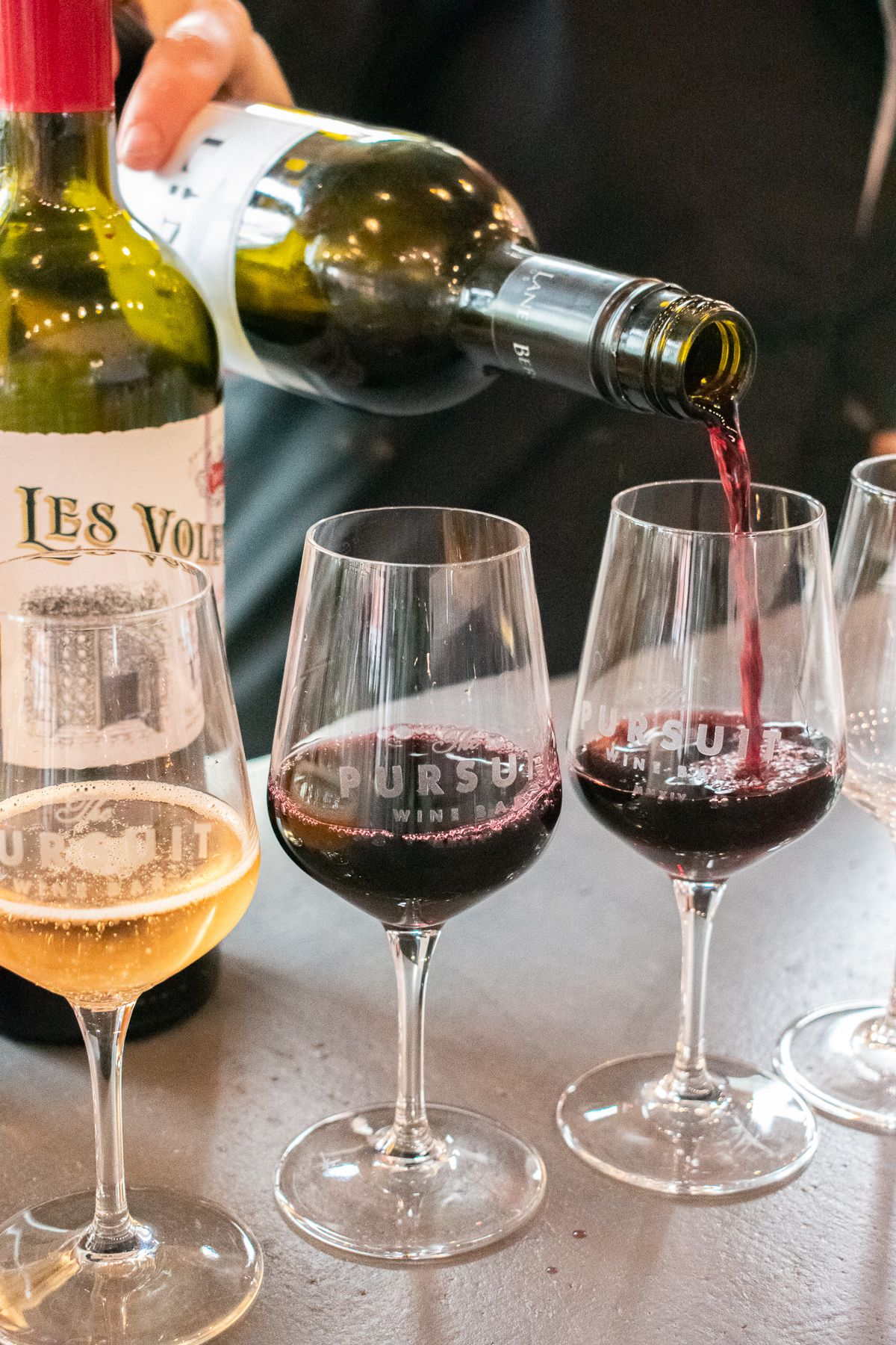 Wine pours at Pursuit