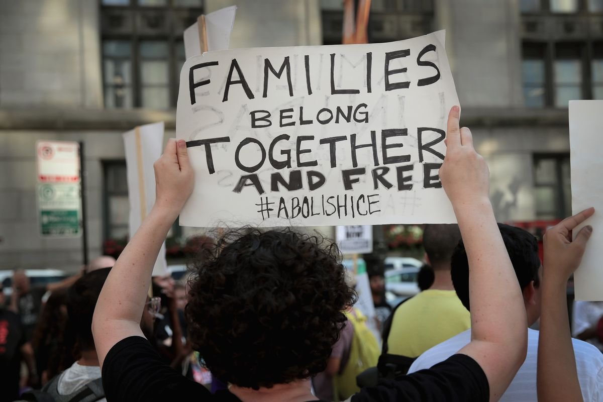 A scene from an August immigration rally in downtown Chicago. Mayor Rahm Emanuel submitted a public comment on the proposed public charge rule changes on Monday.