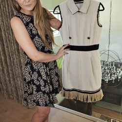 """Chanel tweed dress with fringe, price unknown. """"This is my winter dress."""""""