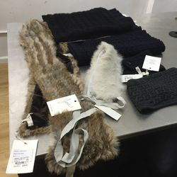 Fur collars and snoods, $30—$75