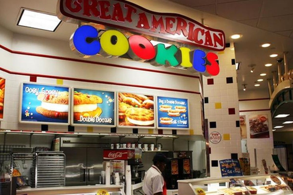 Great American Cookies, coming soon to Centennial Park.
