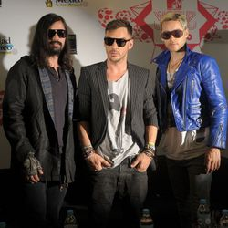 2010: That's definitely a woman's jacket. At the MTV World Stages press conference.