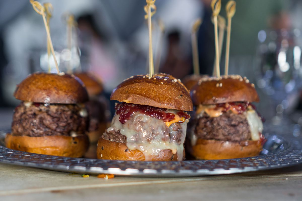 Dry-aged beef burgers at NoMad Restaurant