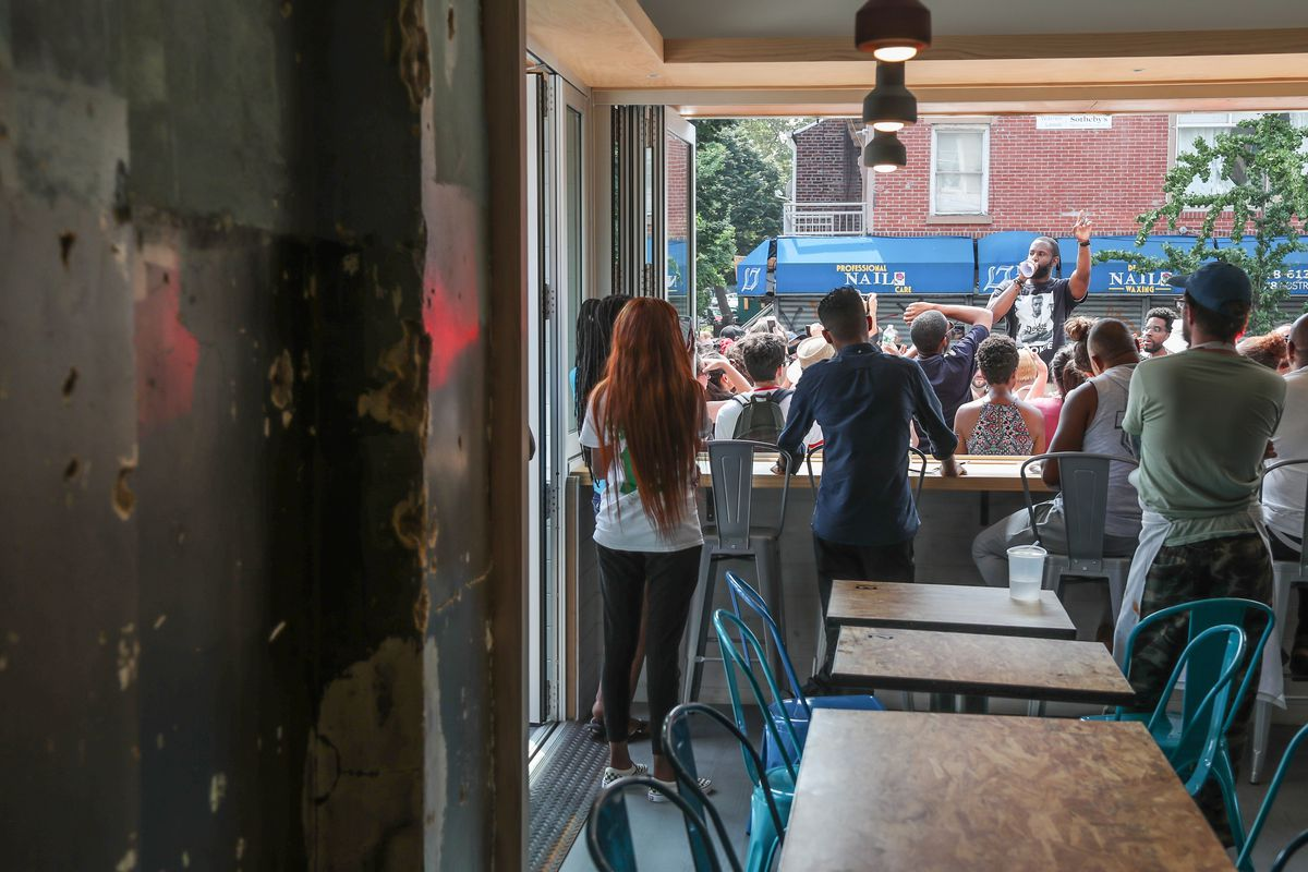 Fake Bullet Hole Crown Heights Bar Plasters Over