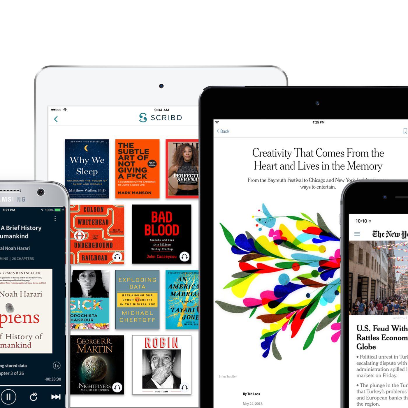 Scribd Partners With The New York Times For A Cheaper Joint Subscription The Verge