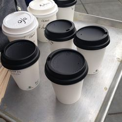 """<a href=""""http://www.thewydown.com"""">The Wydown</a> passed out free coffees. Their space is opening soon next door."""