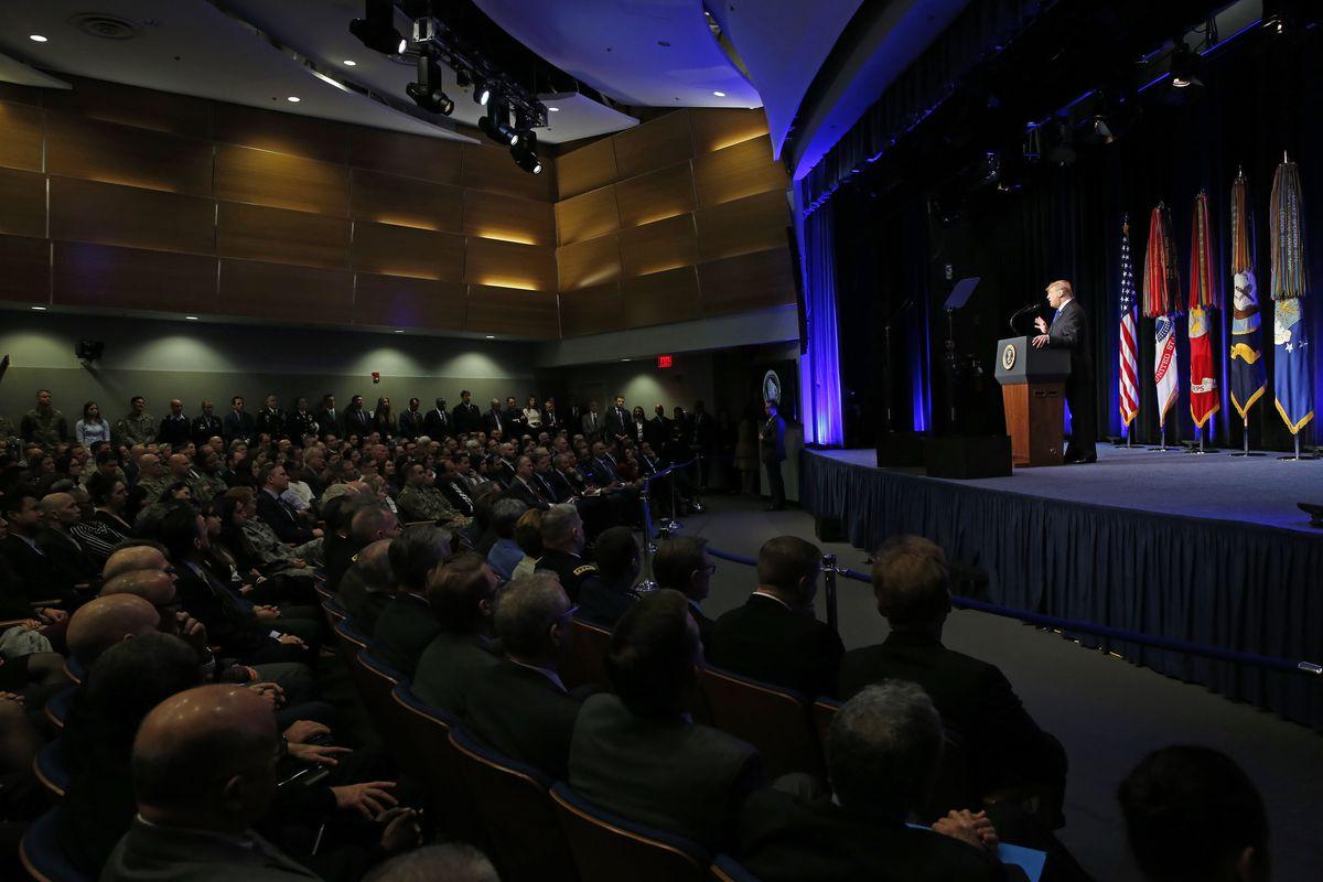 President Trump Speaks About Missle Defense Doctrine At The Pentagon