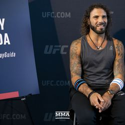 Clay Guida poses at UFC 225 media day.
