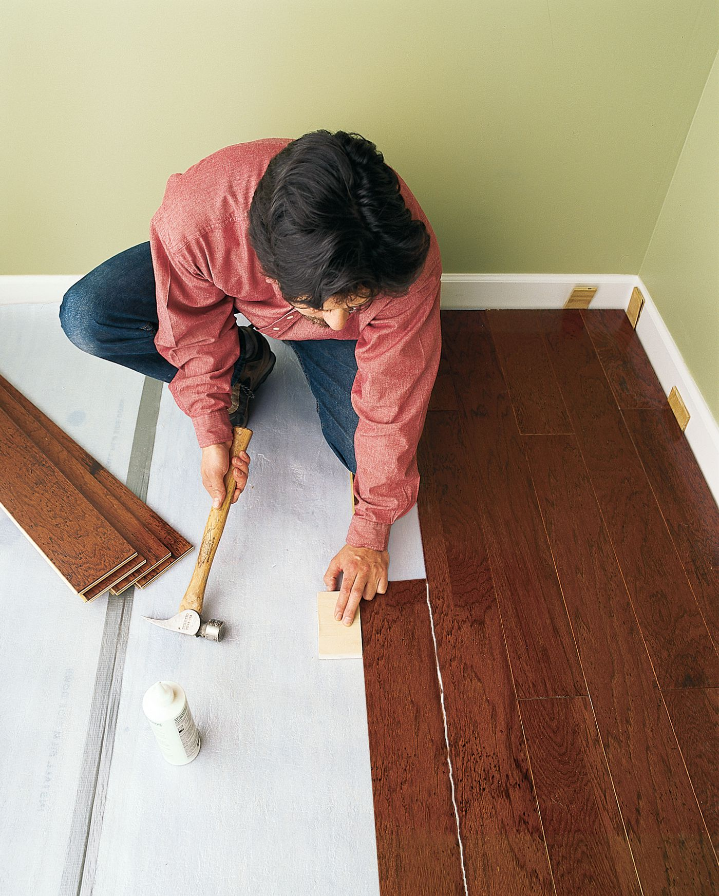Floating Wood Floor Install One In 8 Steps This Old House
