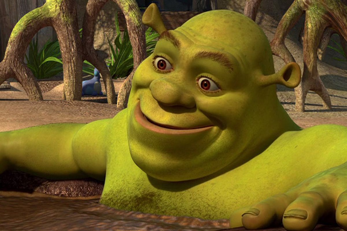 Shrek in a mud bath in Shrek Forever After