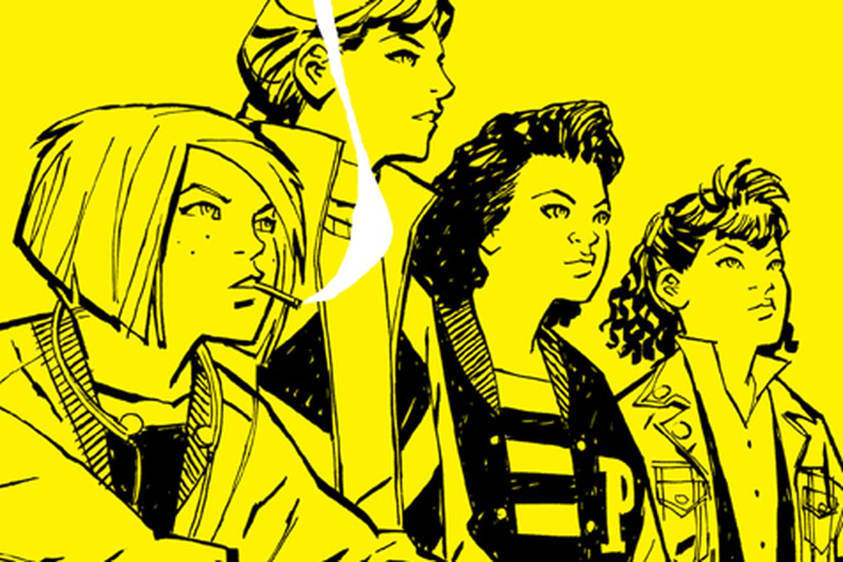 The cover of Paper Girls no. 1