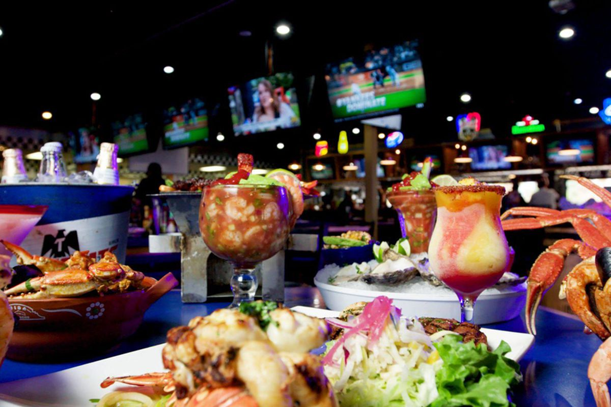 A sampling of the Mexican dishes at Vida Mariscos Seafood & Sports Bar location in Houston, TX.