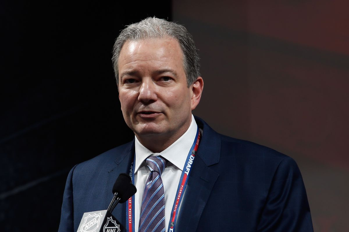 There are no pictures of Paul Castron available, so here's one of Ray Shero at the 2015 Draft.
