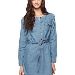 """<a href="""" http://www.forever21.com/Product/Product.aspx?BR=f21&Category=whatsnew_app_dresses&ProductID=2000035690&VariantID=&utm_source=affiliatetraction&utm_medium=cj&utm_campaign=affiliate""""> Forever 21 Premium Denim dress with sash</a>, $24.80 forever21"""