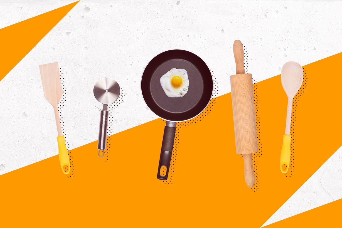 Photoillustration of cooking utensils