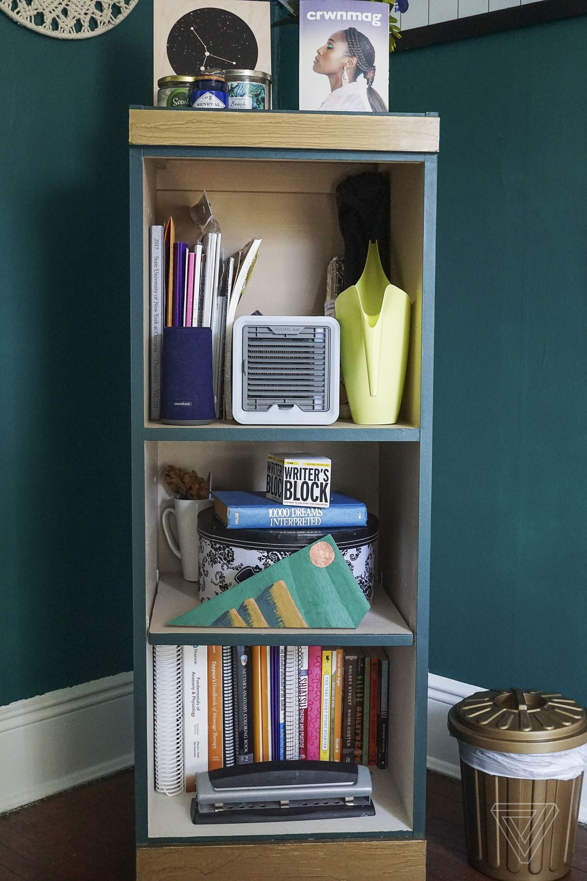 A deconstructed bookcase