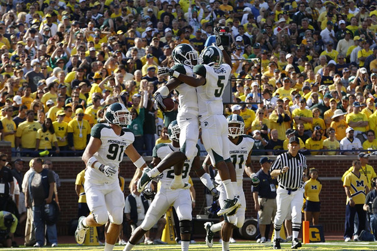 The Spartan win against Michigan moved them into the ranks.