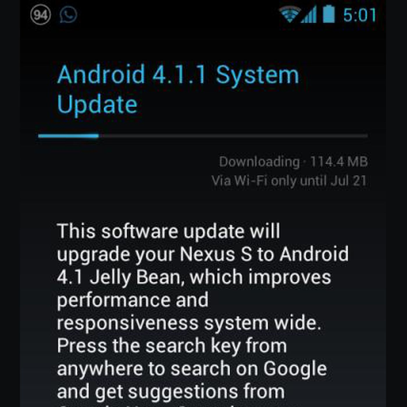 OTA Android 4 1 1 Jelly Bean update available for some Nexus