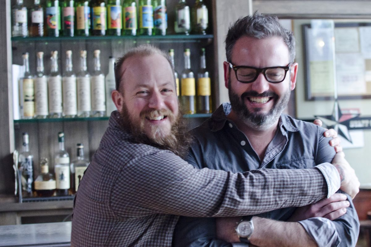 Lone Star Taco Bar co-owners Aaron Sanders (left) and Max Toste
