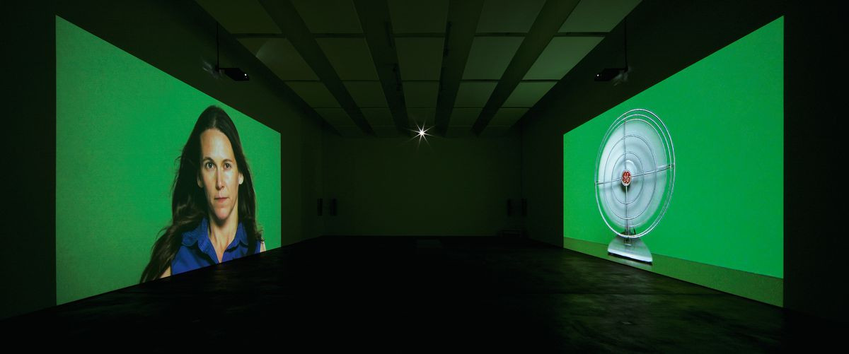 """Barbara Kruger, """"The Globe Shrinks,""""2010.Installation view,Sprüth Magers, Berlin,2010. Courtesy of the artist and Sprüth Magers."""