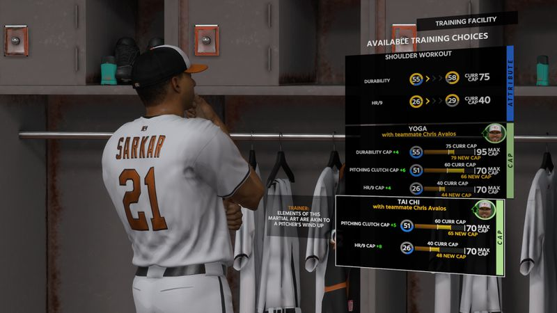 MLB The Show 18 Road to the Show - Samit Sarkar pondering training choices