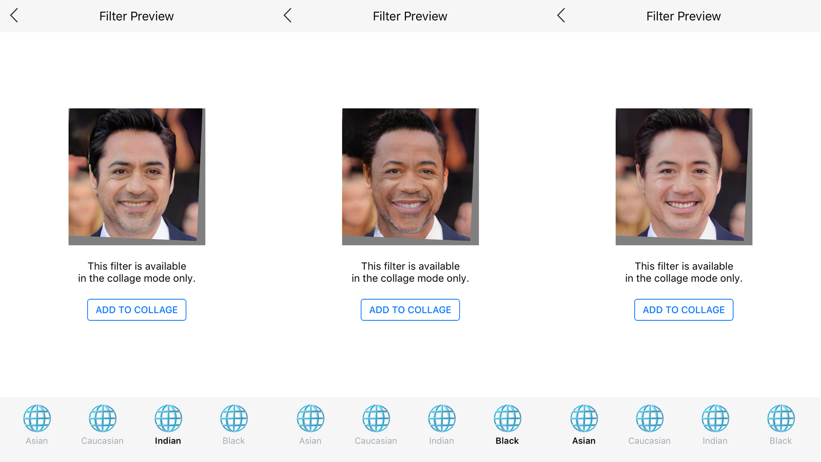 Popular face-aging app now offers 'Black,' 'Indian,' and 'Asian