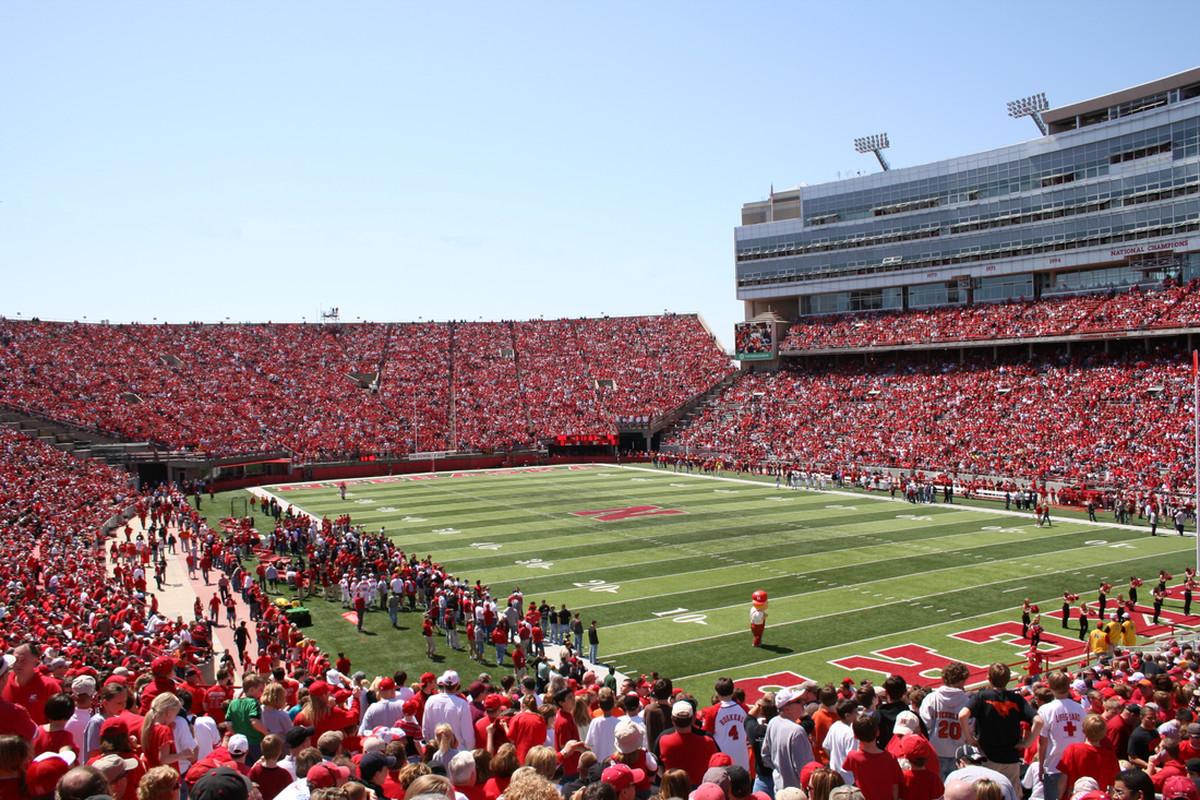 Husker Fans Memorial Stadium Background