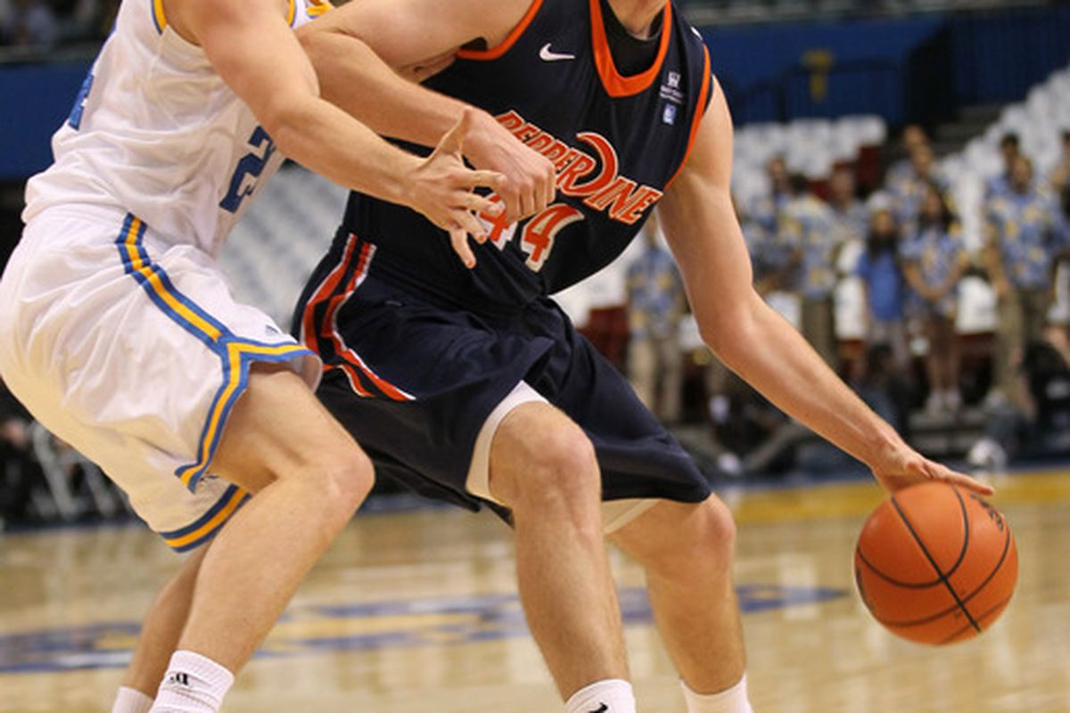 Corbin Moore of Pepperdine should provide a challenge for Brock Motum and Charlie Enquist tonight.