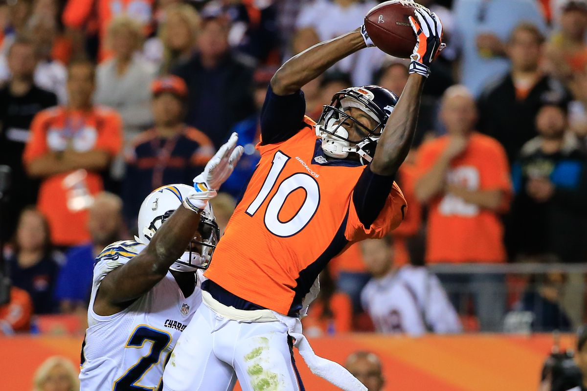 Emmanuel Sanders could not be more ecstatic for an up tempo