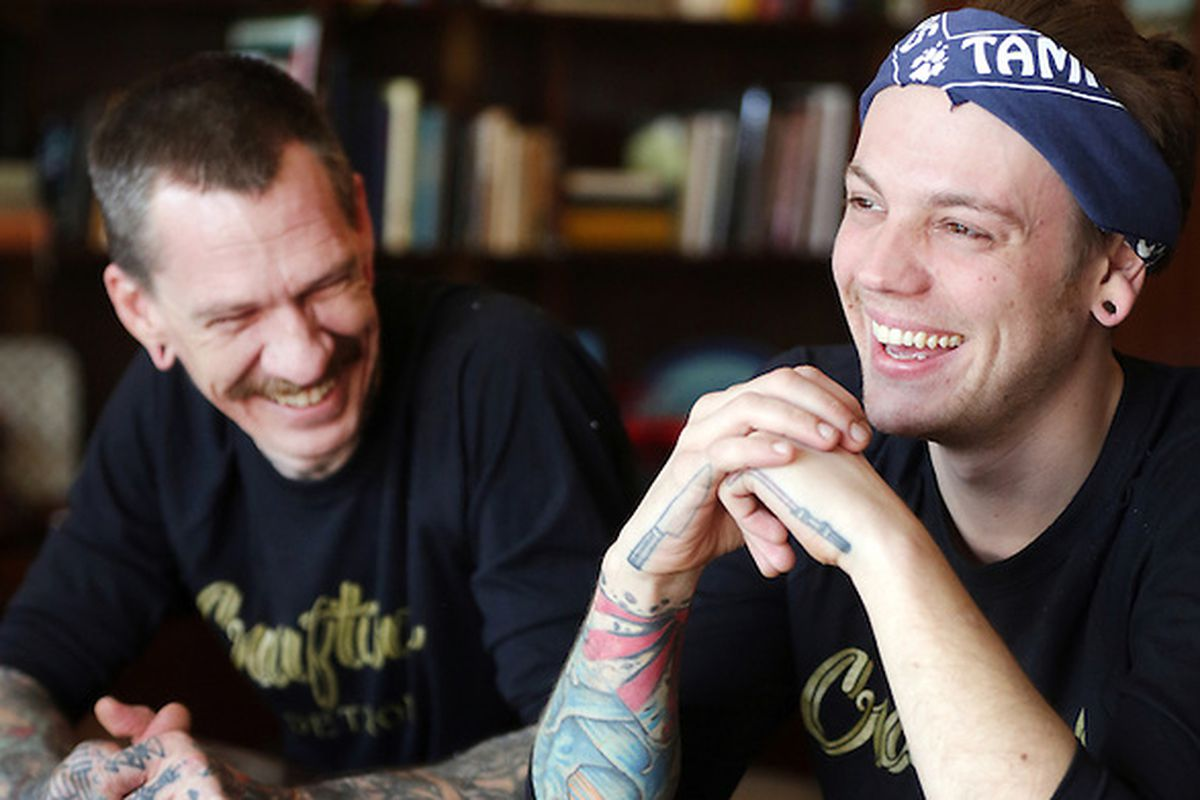 Executive chef Aaron Solley (left) and sous chef Stephen Schmidt (right) at Craft Work in West Village