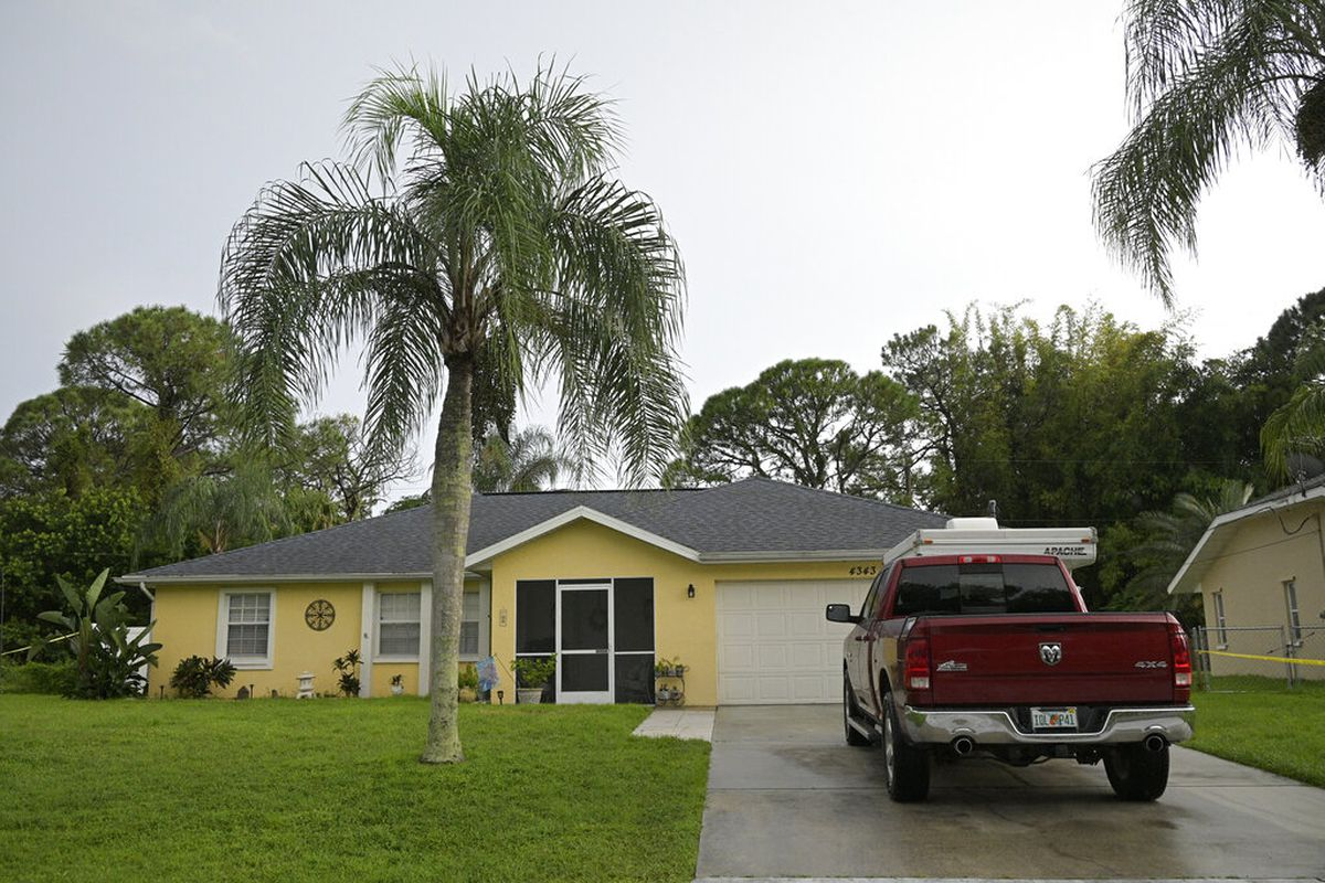 """The home of Brian Laundrie, who is wanted for questioning in the disappearance of his girlfriend Gabrielle """"Gabby"""" Petito."""
