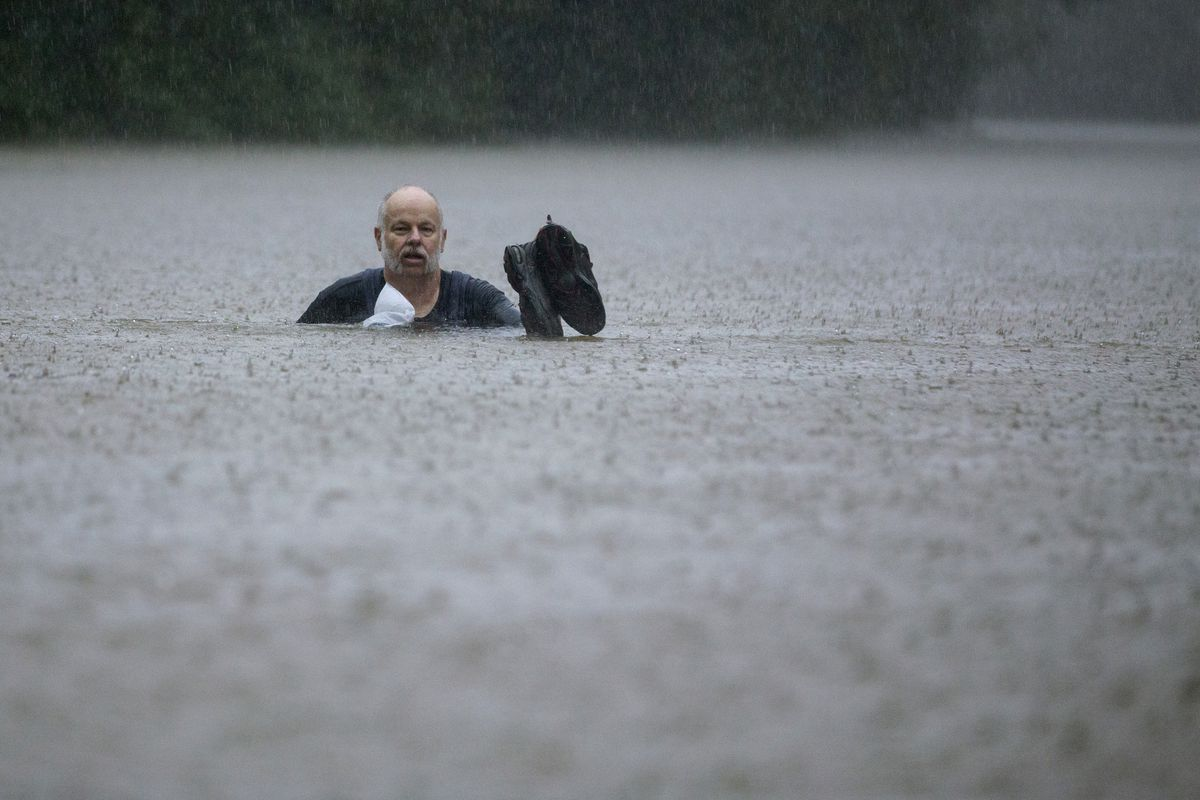 Tropical Depression Imelda hit Houston. See the videos and photos of flooding