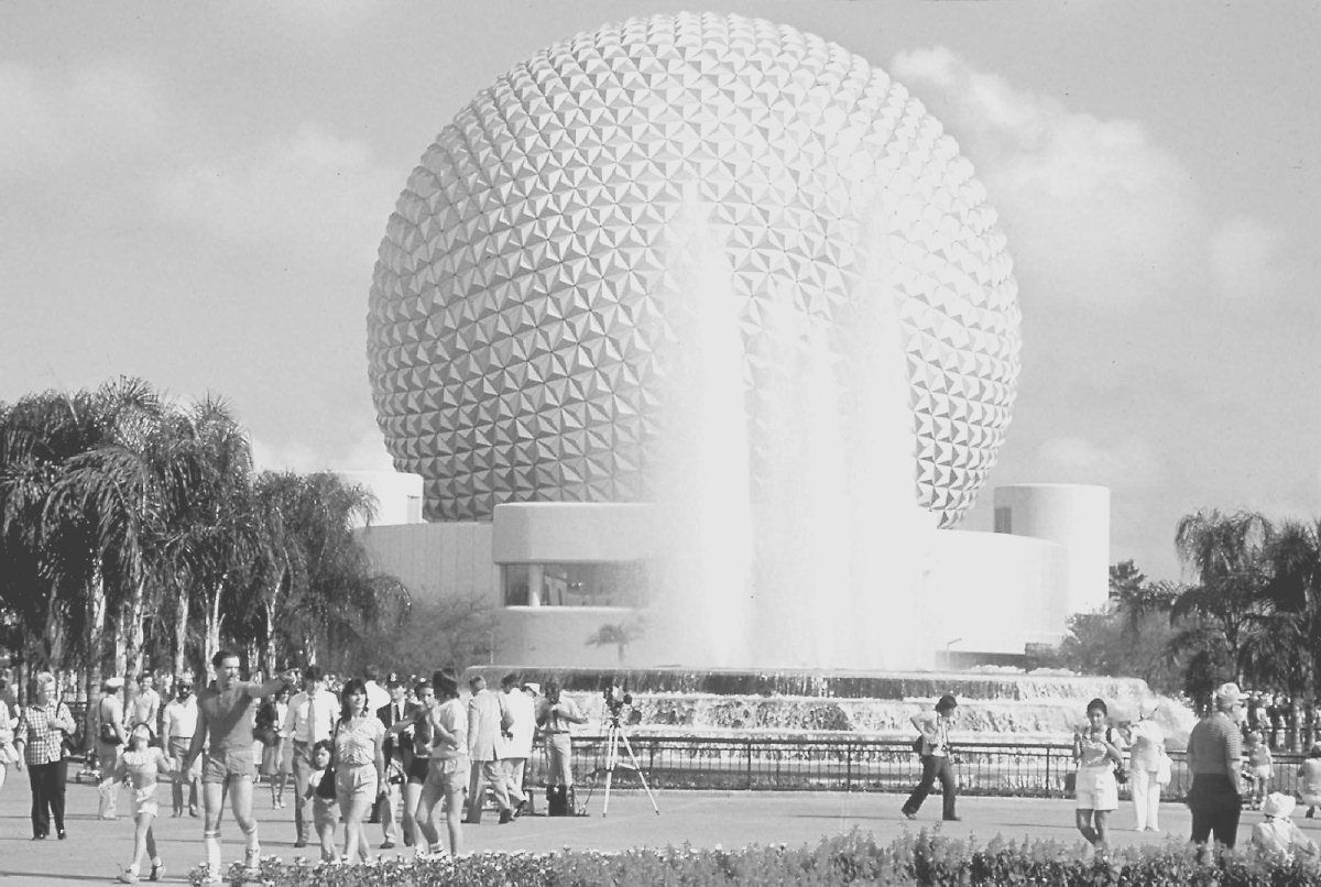 """Epcot Center's iconic """"golf ball' (pictured in 1997) will remain as part of an overhaul of the Disney resort property.   DISNEY/FILE"""
