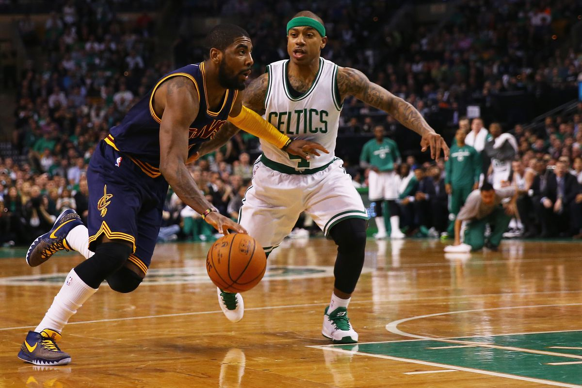 7e666764bbbb Isaiah Thomas and Kyrie Irving Watch Their Careers Intersect Once Again