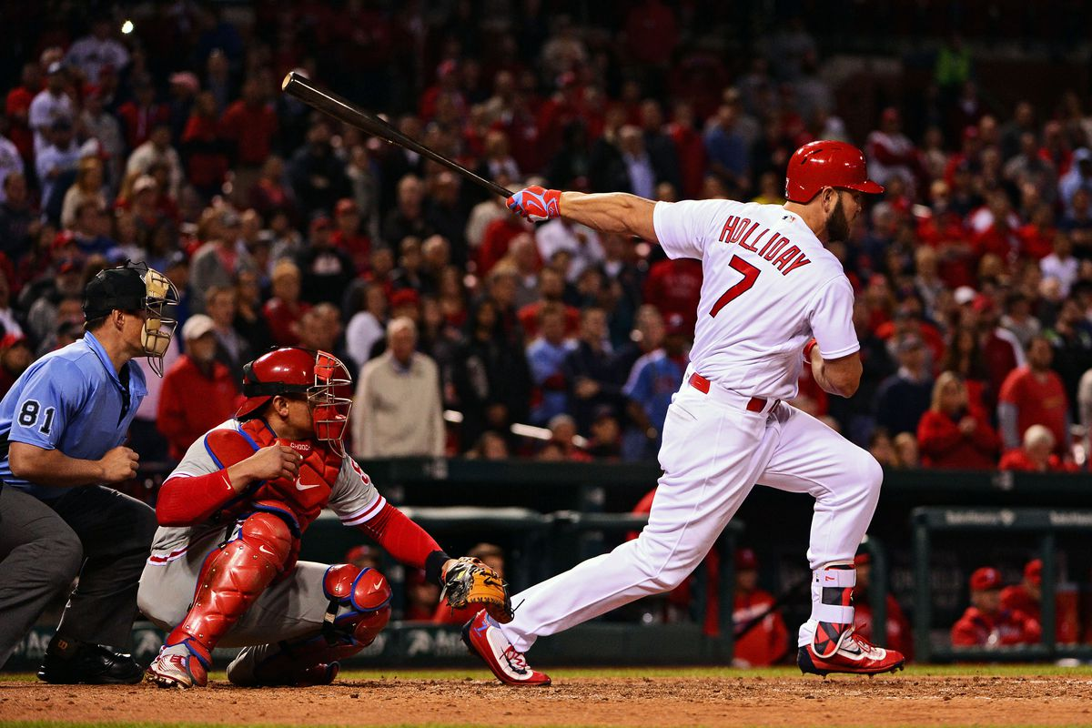 Holliday's walk-off single, a ground ball with eyes