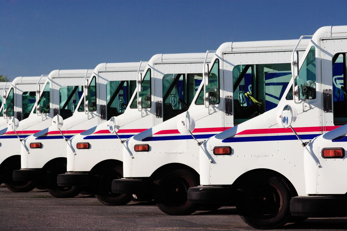 USPS mail trucks
