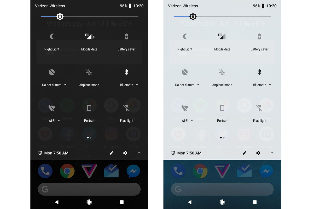 google will let pixel owners choose between dark and light launcher theme