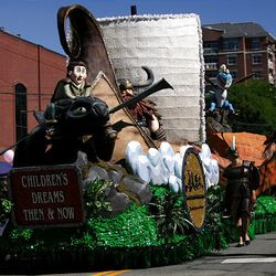 Primary Children's Hospital's Float wins the Children's Choice Award in the Days of '47 Parade in Salt Lake City on Saturday.