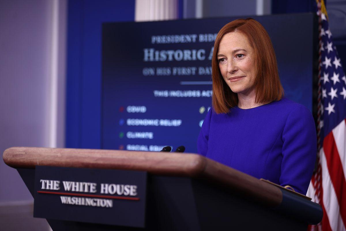 White House Press Secretary Jen Psaki Holds News Briefing On President's Biden Inauguration Day